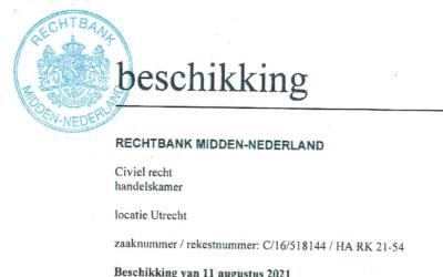 Rechtbank Utrecht verklaart ANBB niet ontvankelijk